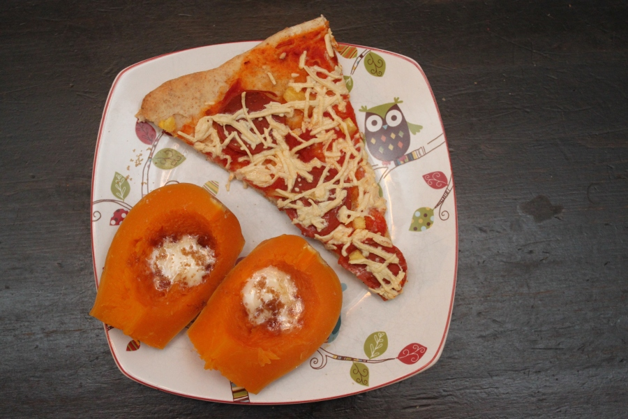 vegan pizza with butternut squash