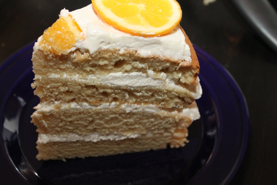 Vegan orange birthday cake