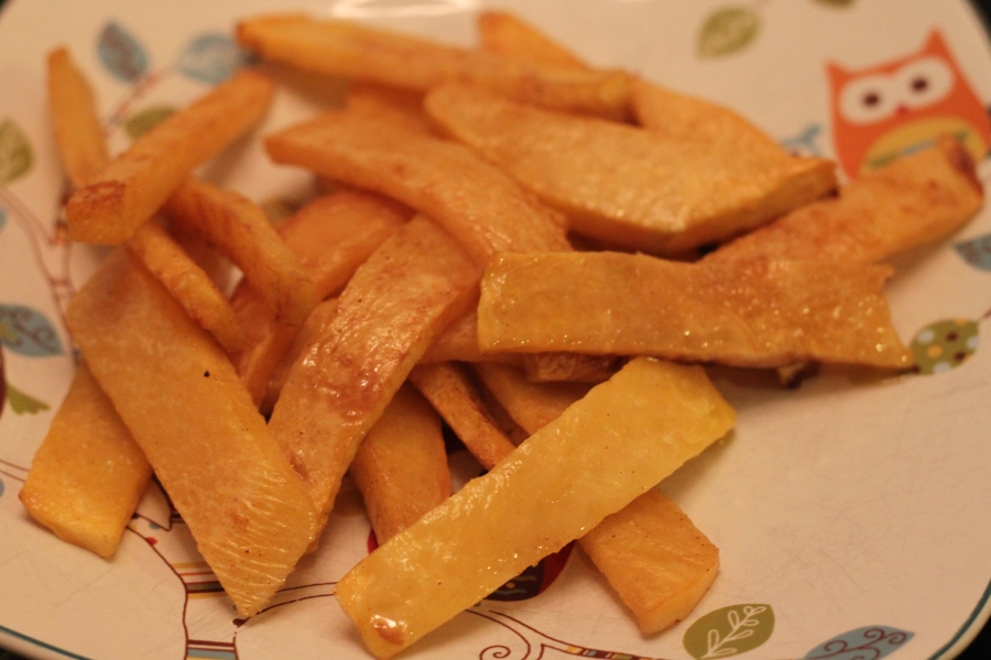 Rutabaga fries with cinnamon.