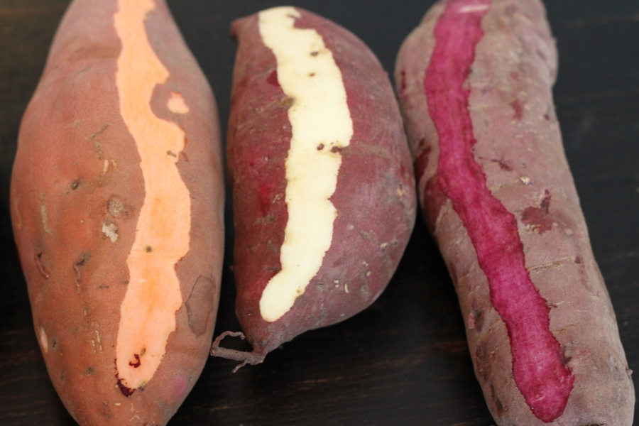 3 sweet potato varieties