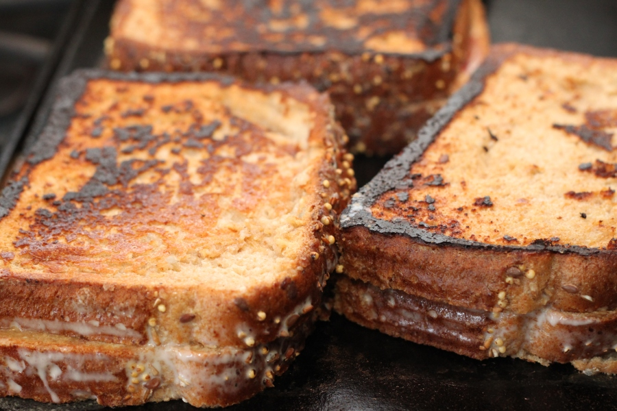 vegan peanut butter and jam french toast