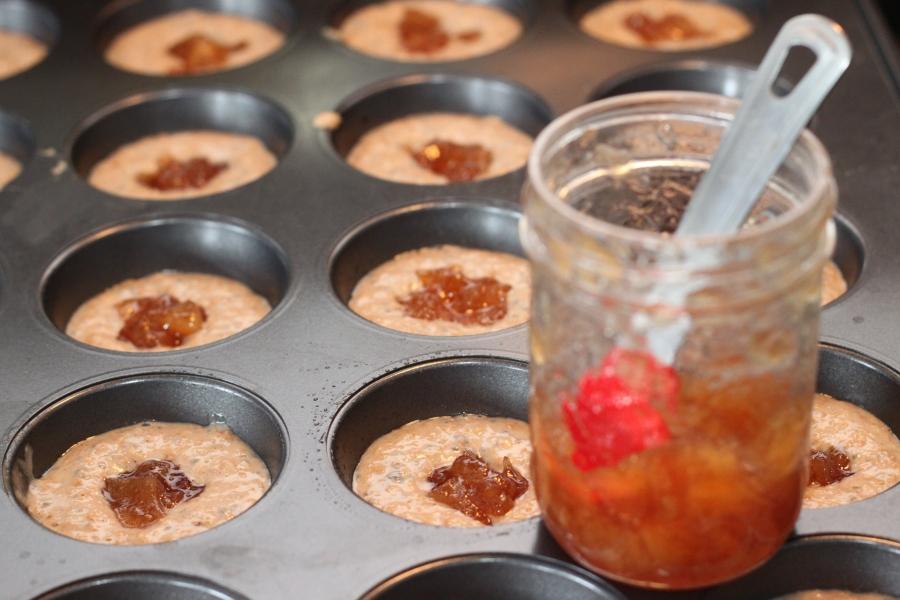 vegan jam muffins